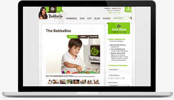 BabbaCo Site on Laptop