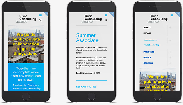 Civic Consulting Alliance Site on Phones