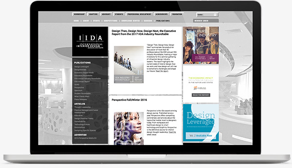IIDA Site on Laptop